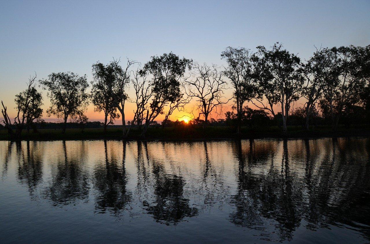 yellow water billabong, yellow waters, kakadu